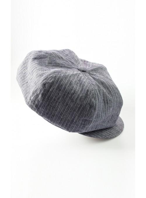 Kappe Samu - Leinen, blaugrau