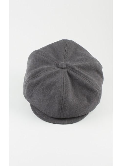 Kappe Samu - Leinen, grau