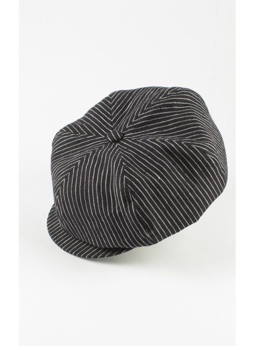 Cap Samu - Linen, black and...